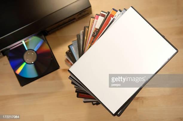 blank dvd case on player