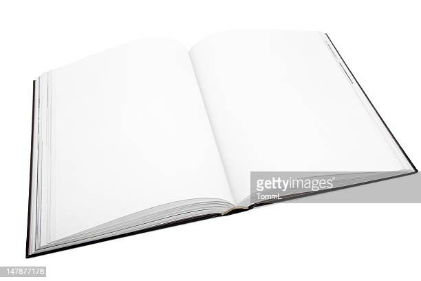 blank / empty book pages