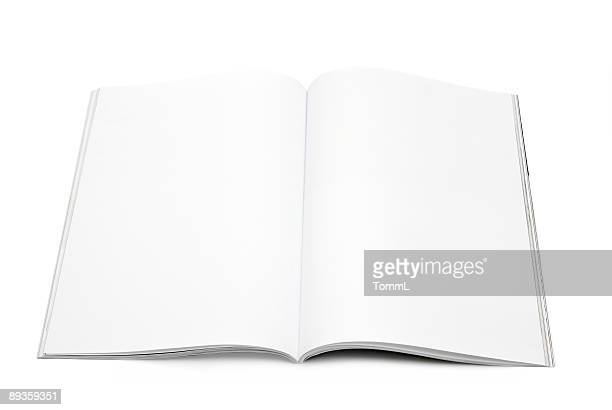 blank / empty magazine page - magazine page stock photos and pictures