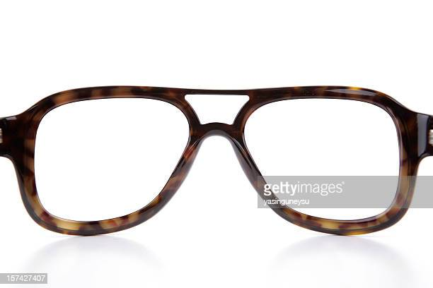 blank eyewear frame - thick rimmed spectacles stock photos and pictures