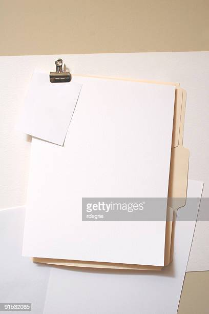 blank file folder and papers - clip stock pictures, royalty-free photos & images