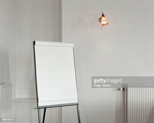 A blank flipchart