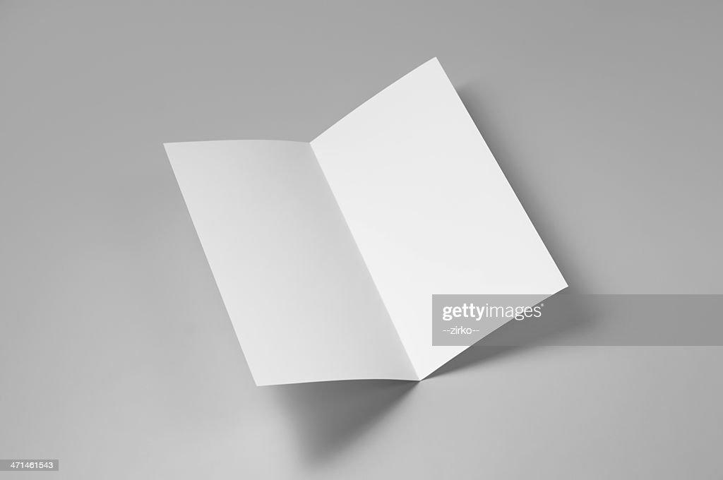 Blank flyer, 4-page, single fold : Stock Photo