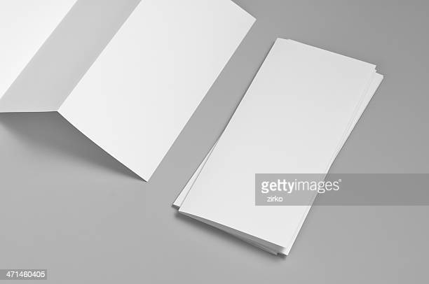 Blanco flyer, 6, página, Z-fold (acordeón
