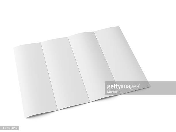 blank flyer - folded stock photos and pictures