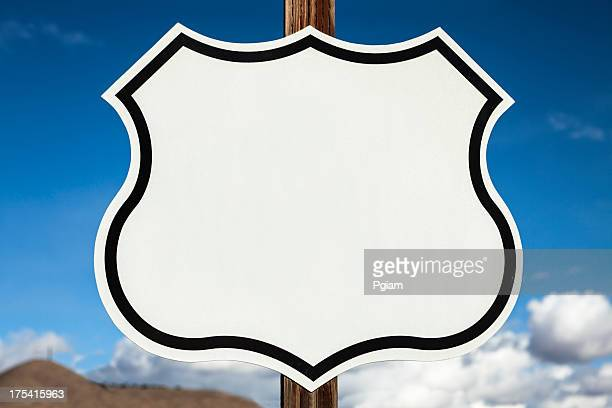Blank freeway road sign