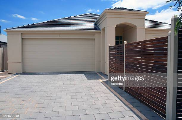blank garage door - paving stone stock pictures, royalty-free photos & images