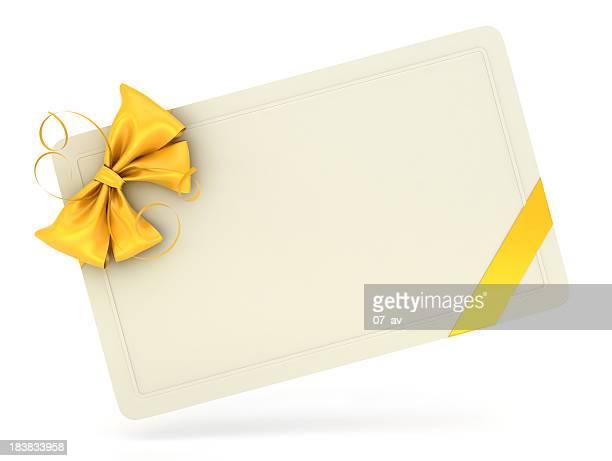 Leere Geschenkkarte