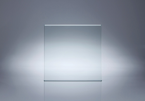 Blank glass plate with copy space 133468496