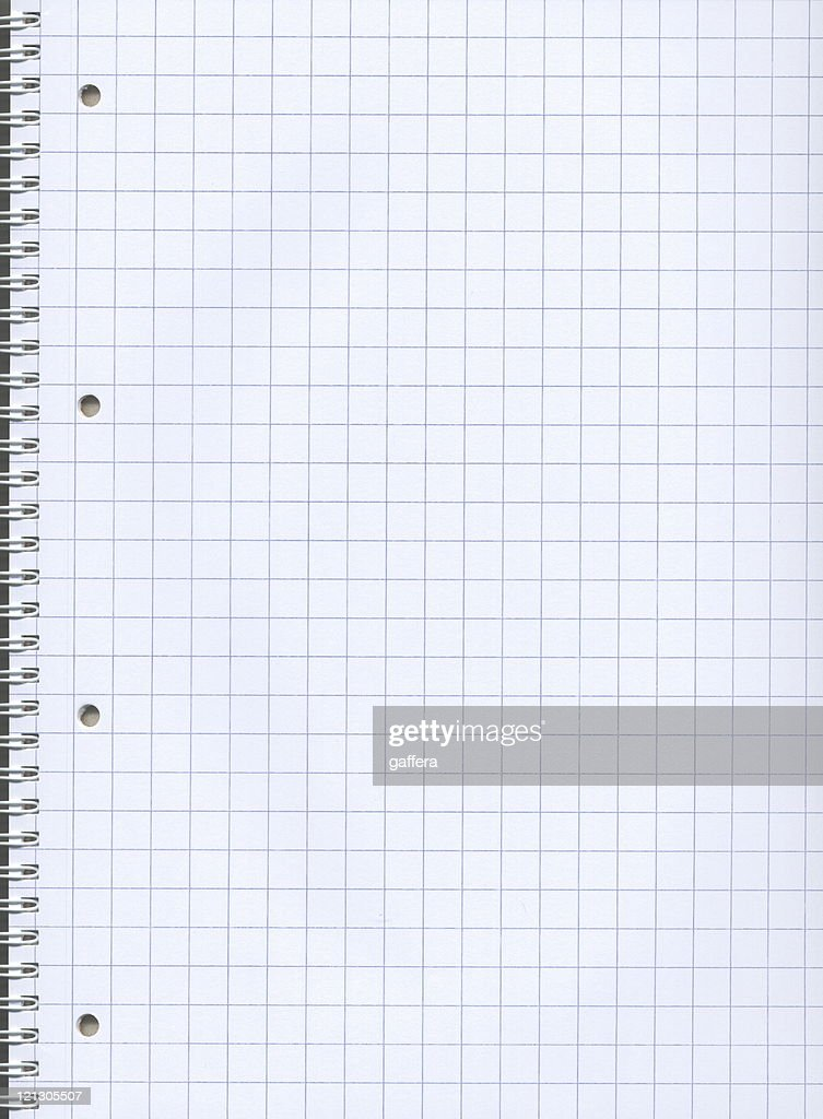 Blank Graph Paper Of A Notebook With Spiral Stock Photo ...
