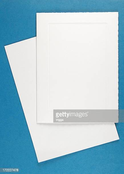 Blank greeting card with envelope