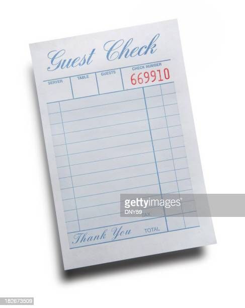 Blank Guest Check