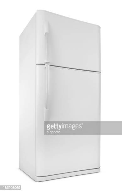 Blank Image of a white,sleek refrigerator