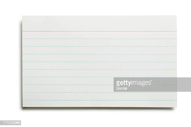 空白の索引カード - インデックスカード ストックフォトと画像
