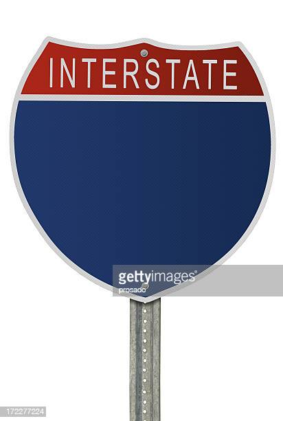 Blank Interstate Sign with Path