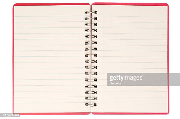 Blank isolated notebook pages