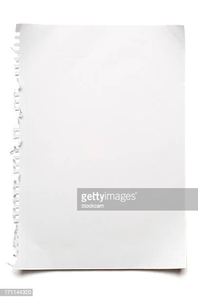Leere isoliert white paper