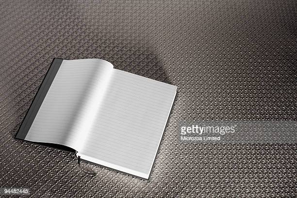 blank journal - microzoa stock pictures, royalty-free photos & images