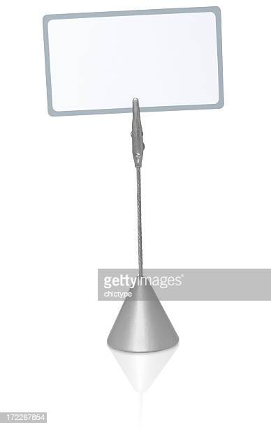 blank label on a stand - clip stock pictures, royalty-free photos & images