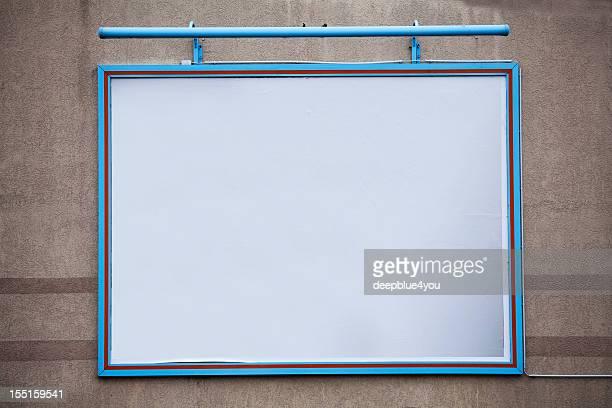 Blank large billboard on a wall