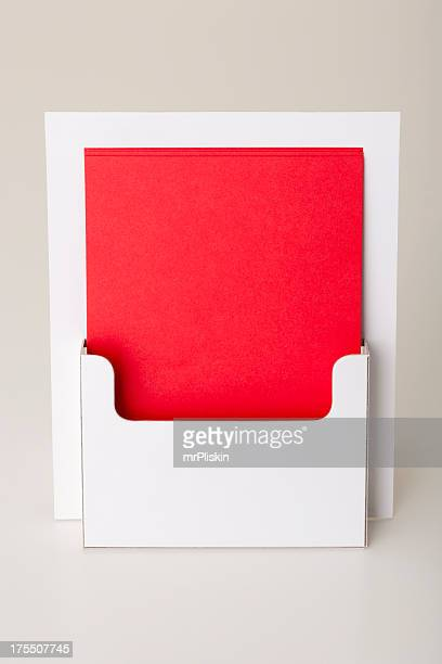 blank leaflet holder pos - flyer leaflet stock photos and pictures