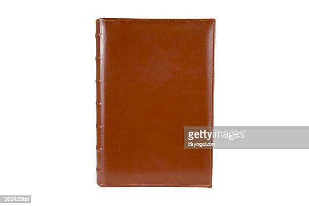 Blank Leather Binder with Clipping Path