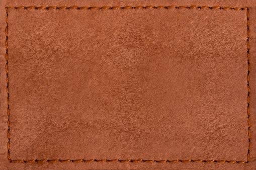 Blank leather jeans label isolated on white background 185330908