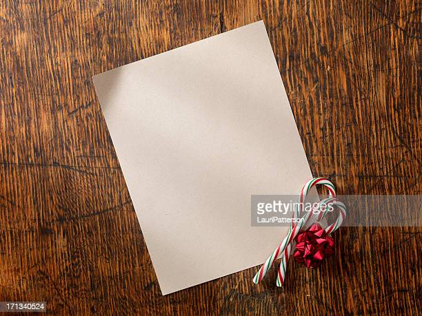 blank letter with candy canes - list stock pictures, royalty-free photos & images