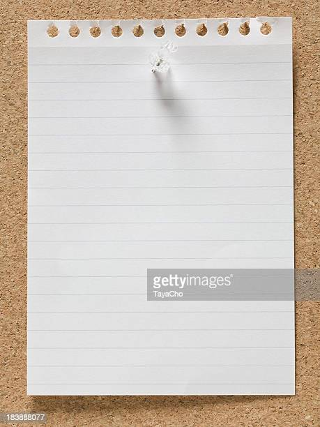 Blank lined sheet of memo paper