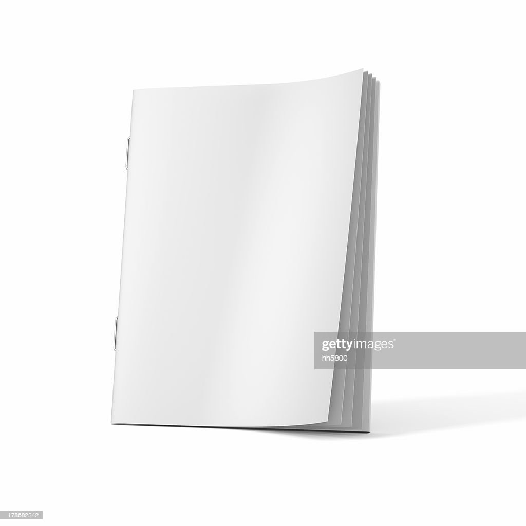 A blank magazine book on a white background : Stock Photo