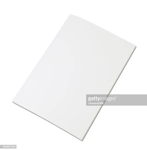 blank magazine isolated