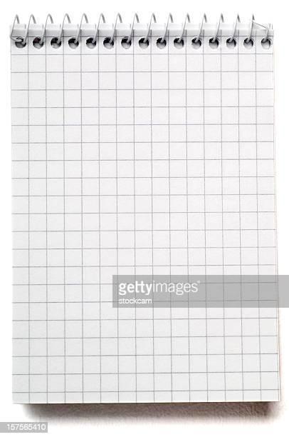 Leere Mathematik notebook