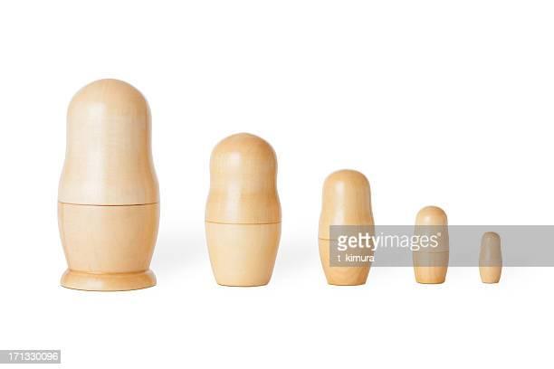 Blank Matryoshka dolls