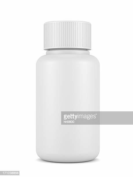 Leere Medizin-Flasche