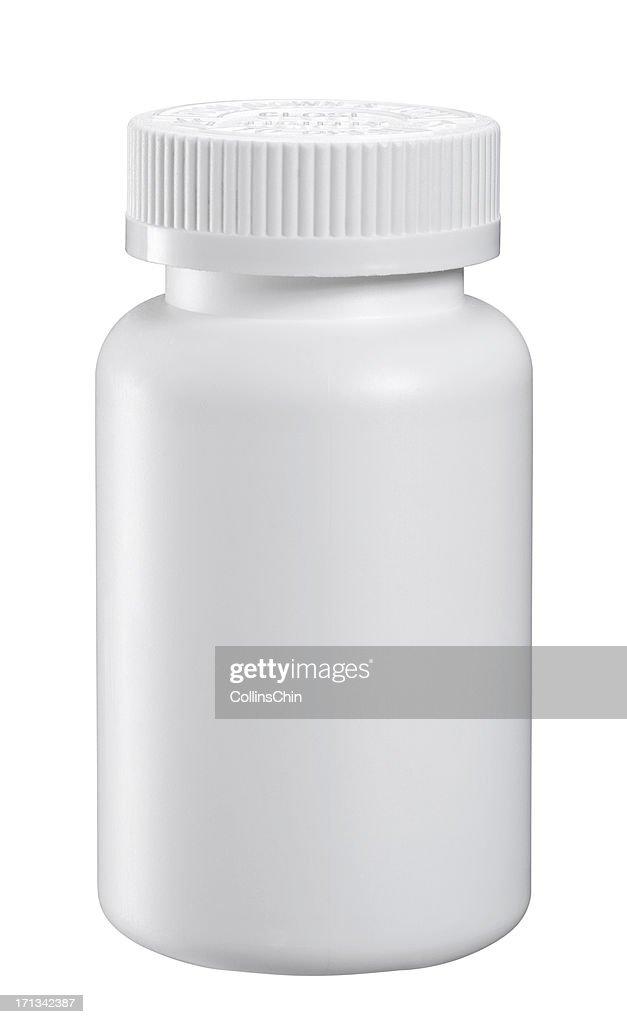 Blank Medicine Bottle : Stock Photo