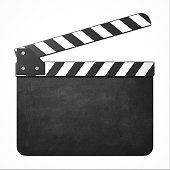 Blank movie clapper 3d isolated illustration