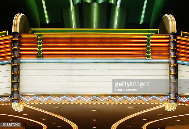 blank movie marquee - film premiere stock pictures, royalty-free photos & images