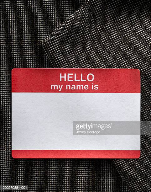 Blank name badge on dress jacket