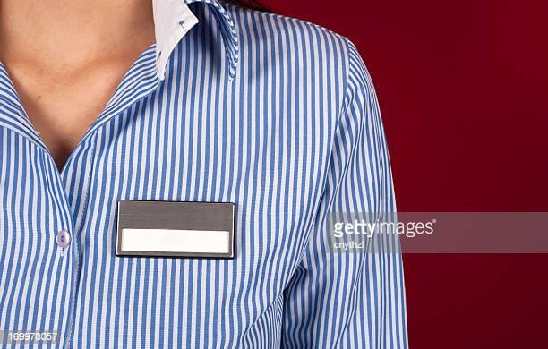 Leere Namensschild auf dem Shirt