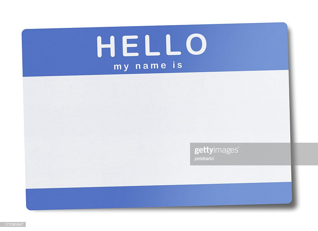 Blank Name Tag (Clipping Path) : Stock Photo