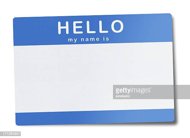 blank name tag (clipping path) - greeting stock pictures, royalty-free photos & images