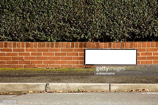 Blank  Nameplate with Space for Name of Your Street-More below.