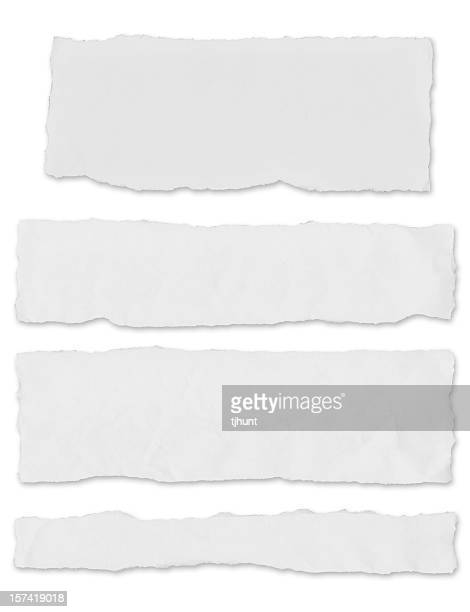 blank newspaper tears - w/ drop shadow - front page stock photos and pictures