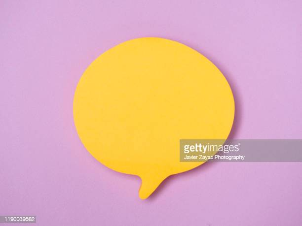 blank note in the shape of comic bubbles - speech bubble stock pictures, royalty-free photos & images