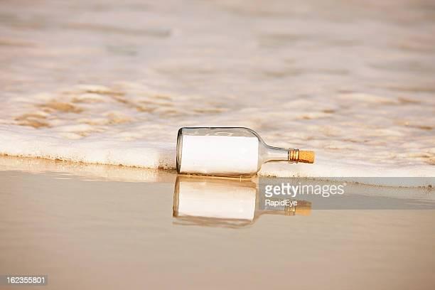 Remarque au délavé blanc-bouteille;: Vous ajouter un message