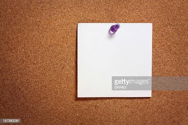 Blank Note on Corkboard XL