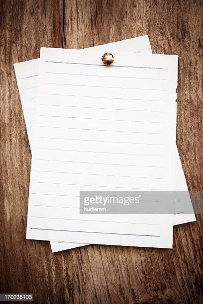 Blank note pad paper background textured