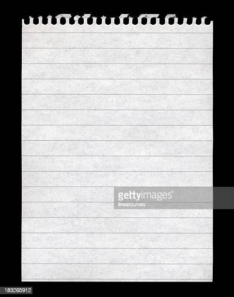 Blank note pad paper