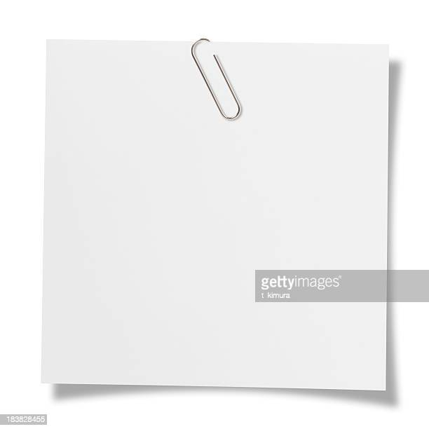 blank note - paper clips stock photos and pictures