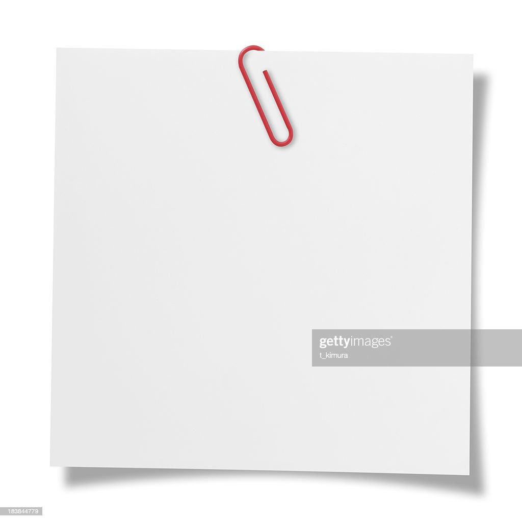 Blank note : Stock Photo